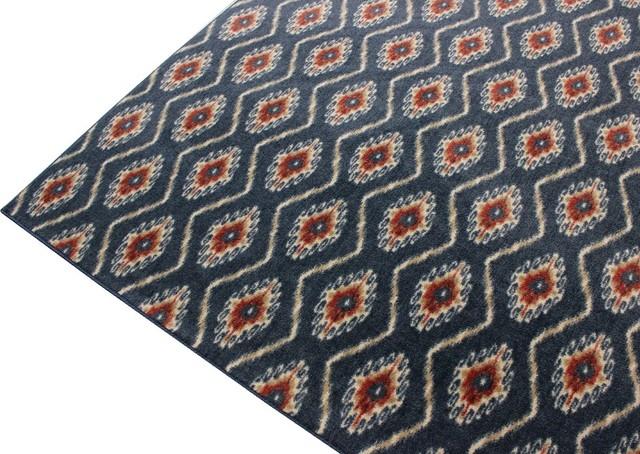 12'x12' Square Custom Carpet Area Rug 40 oz Nylon, Silk Road, Imperial Blue