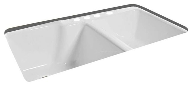 Miseno Mci37 4te 36 Cast Iron Kitchen Sink For Undermount