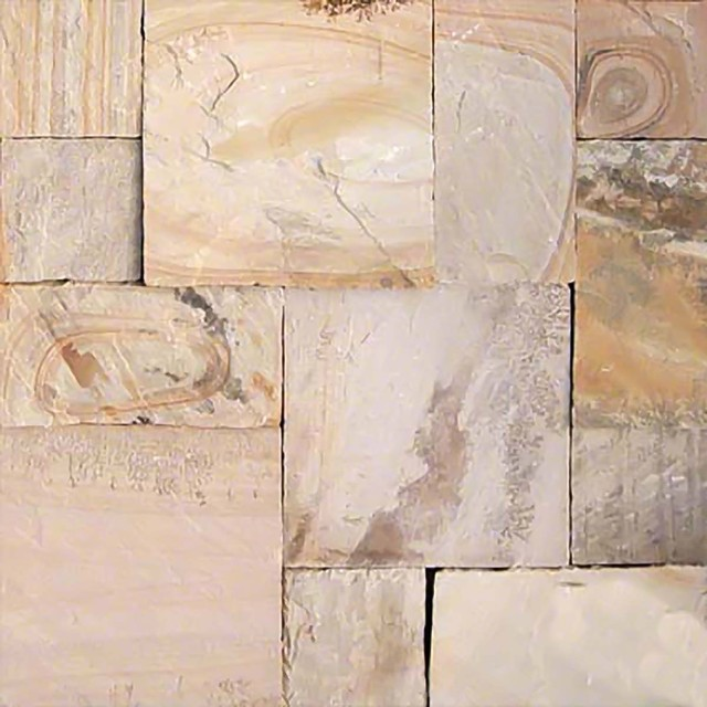 Fossil Rustic Gauged Pavers Hand Cut 24x36 Sandstone