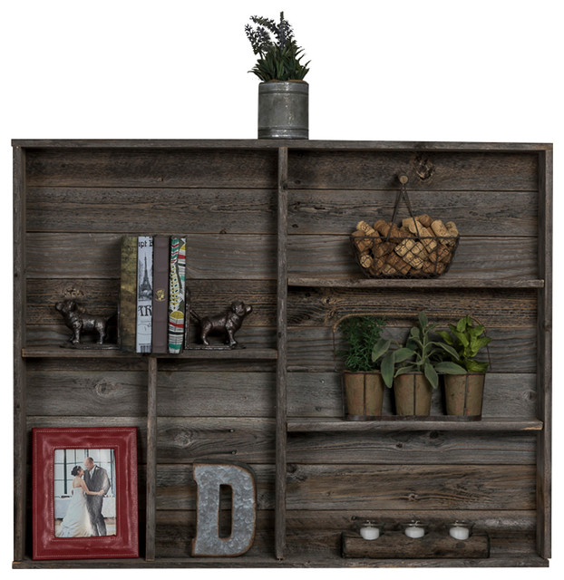 hexon reclaimed wood wall shelf