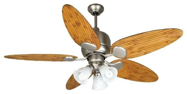 Kona Bay 54 Ceiling Fan Brushed Nickel