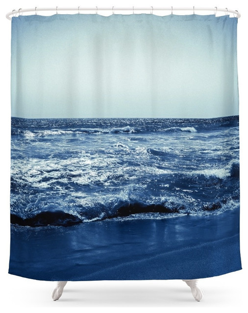 society6 wave shower curtain beach style shower. Black Bedroom Furniture Sets. Home Design Ideas