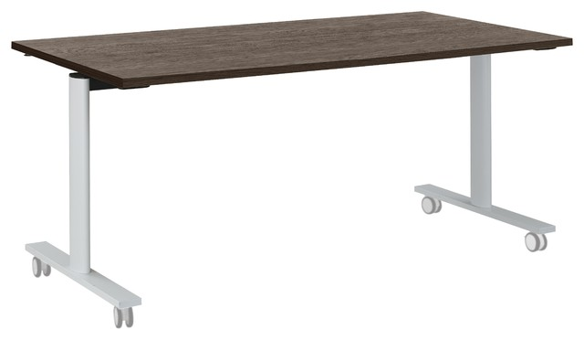 Yes Mobile Oak Meeting Table, Small