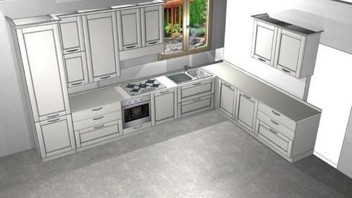 Arredare e colorare la cucina living della casa al mare - Cucina casa al mare ...
