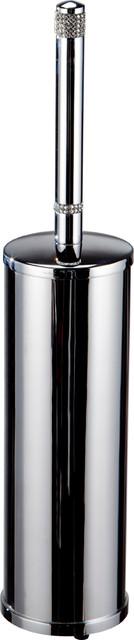 Carmen Toilet Brush Holder, Swarovski Crystal and Polished Chrome
