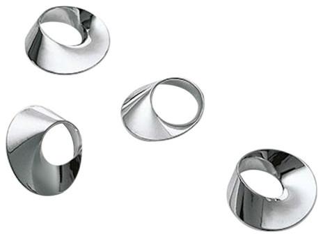 Swirl Napkin Rings, Set of 4