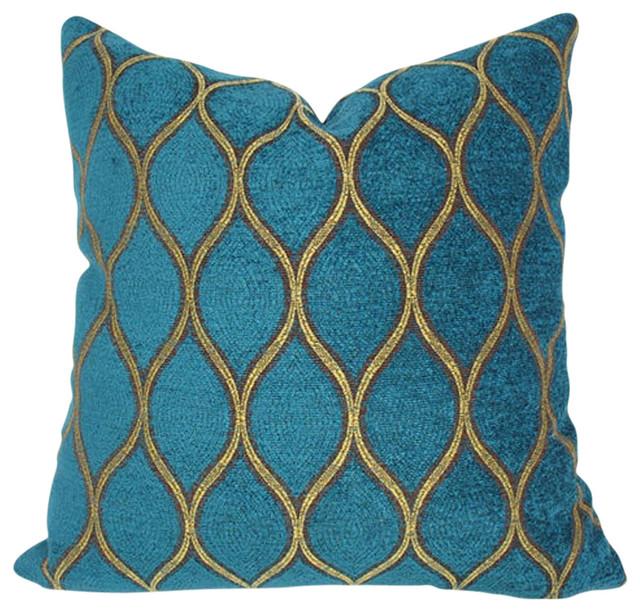 Malta Velvet Decorative Pillow Cover Contemporary Decorative