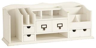 Original Home Office Desk Organizer, White - Traditional ...