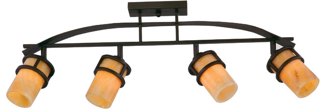 Luxury Rustic Bronze And Onyx Track Lighting Uql2419 Montevideo Collection