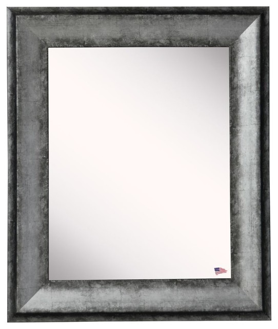 """American Made Rayne Sterling Charcoal Wall Mirror, 30.5""""x1.13""""x36.5""""."""