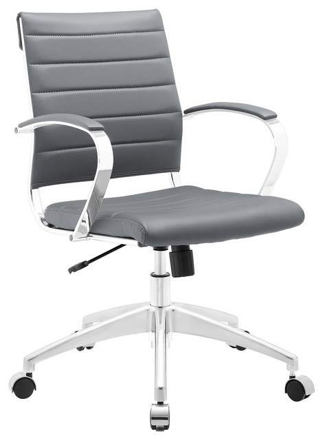 Jive Mid Back Office Chair, Gray.