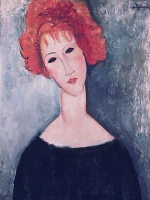 Red Head Poster Print By Amedeo Modigliani Contemporary Prints And Posters By Posterazzi