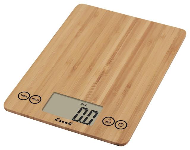 Escali bathroom scale - Escali Arti 15 Lb Digital Kitchen Scale Bamboo Modern