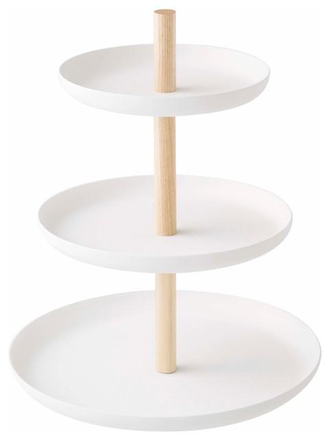 Yamazaki Tosca 3 Tier Cake Stand White Amp Reviews Houzz