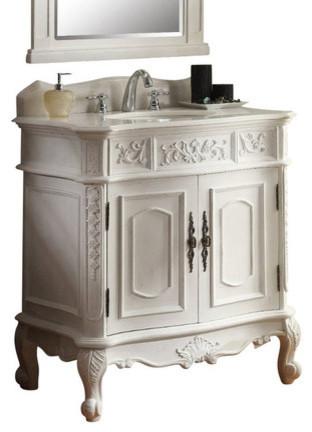 benson bathroom sink vanity antique white 33