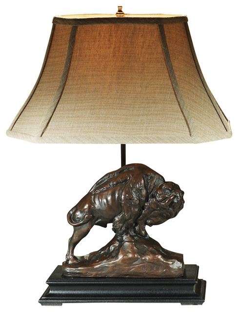 Ok casting buffalo lamp reviews houzz buffalo lamp southwestern table lamps mozeypictures Gallery