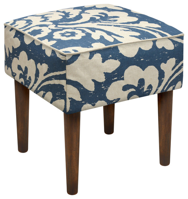 123 Creations Jacobean Floral Modern Vanity Stool View