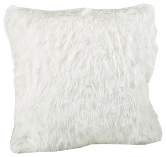 Shop Houzz Fennco Styles Juneau Faux Fur Throw Pillow - Decorative Pillows