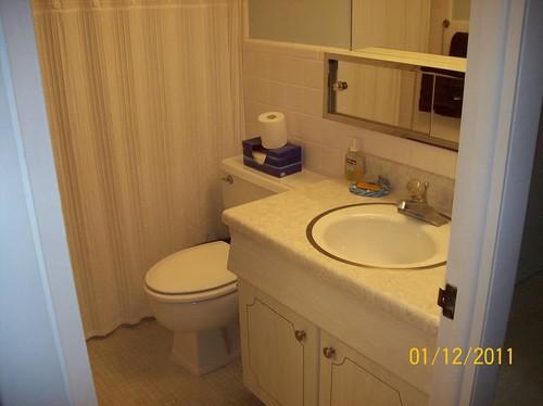 Very small full bathroom beadboard wainscoting or shiplap - Beadboard small bathroom pictures ...