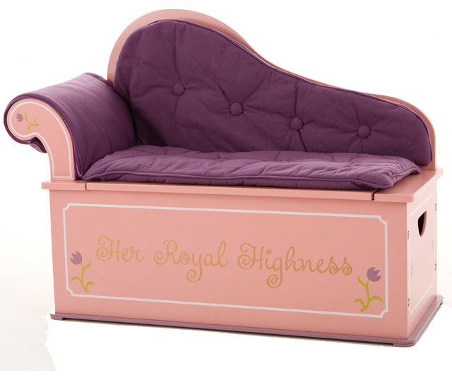 Princess Toys Box Storage Kids Girls Chest Bedroom Clothes: Levels Of Discovery Princess Fainting Couch
