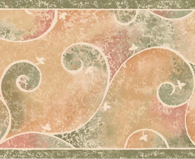 "multi color abstract paisley wallpaper border design, roll 15\u0027x8multi color abstract paisley wallpaper border design, roll 15\u0027x8"" traditional wallpaper by euro home decor"