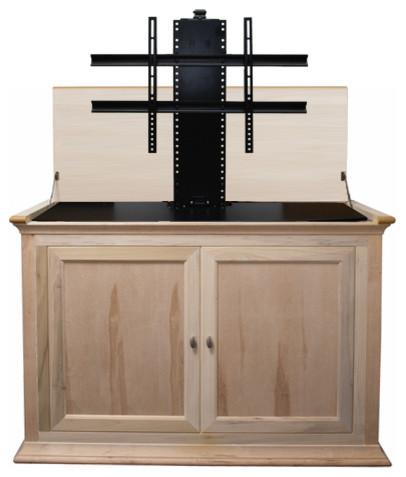 Hartford 73010 Unfinished Tv Lift Cabinet For 50 Flat Screen Tvs