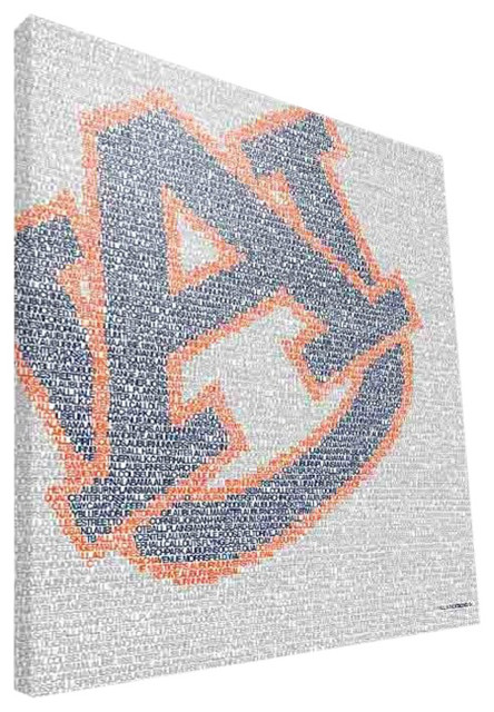 AUB Tigers Typo Canvas Print, 16