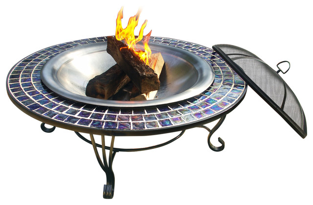 Glass Mosaic Fire Pit 40 Traditional Fire Pit Accessories By