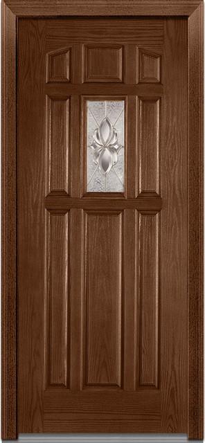 """Heirloom Master 1/4 Lite 8-Panel Fiberglass Door 37.5""""x81.75"""" Rh In-Swing."""