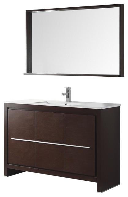 Superb 48 Viara Espresso Modern Bathroom Vanity With Mirror Download Free Architecture Designs Ferenbritishbridgeorg