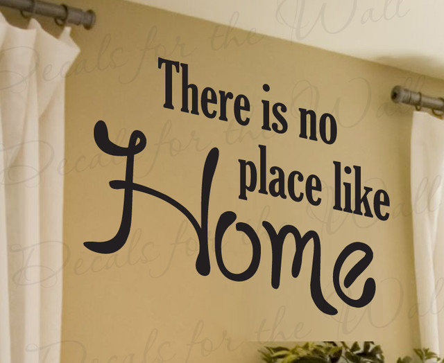 Wall Decal Sticker Quote Vinyl Art Large Theres No Place Like - Wall decals entryway