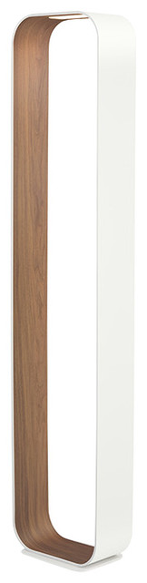 Pablo Designs Contour Floor Lamp, White-Walnut/floor