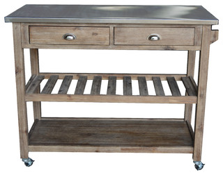Rombauer Kitchen Cart   Farmhouse   Kitchen Islands And Kitchen Carts   By  Boraam Industries, Inc.
