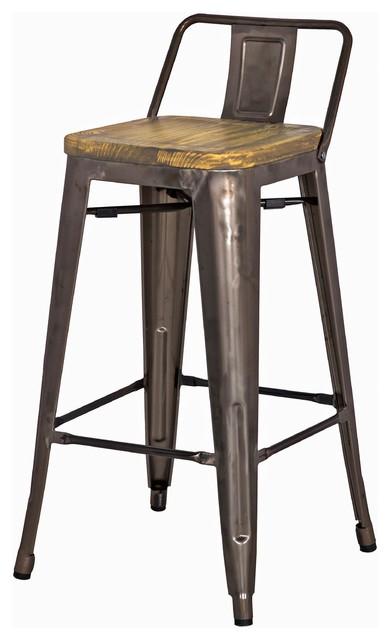 grand metal low back counter stool set of 4