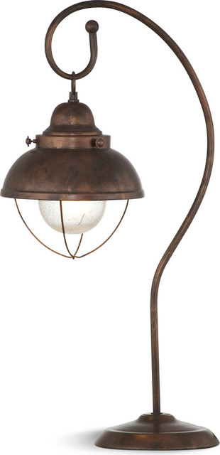 Alleghany Table Lamp, 40w Bulb, Copper Finish.