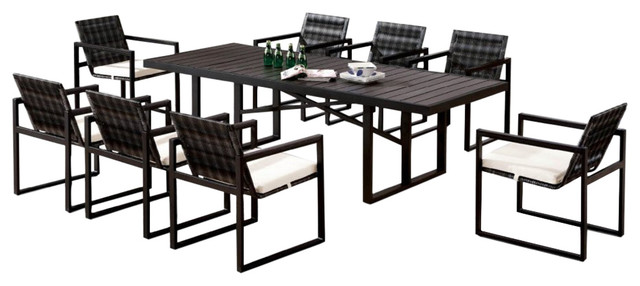 Wisteria Modern Outdoor Dining Table For 8 Contemporary Outdoor Dining Sets