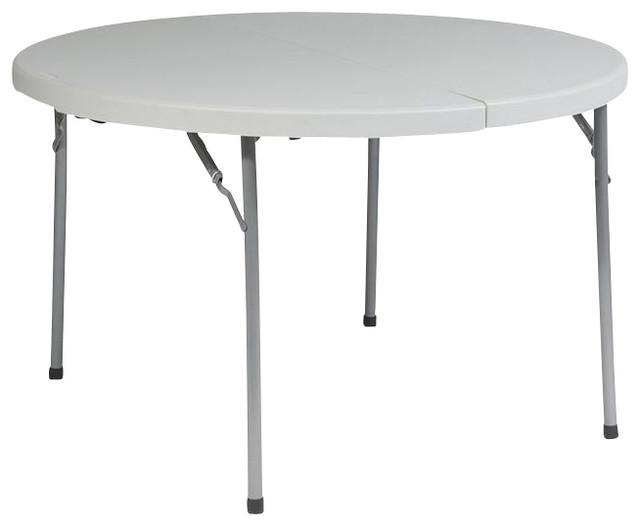 Work Smart 48 Round Fold Half Resin Multi Purpose Table