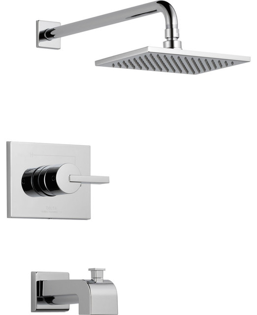 Delta Vero Modern Tub And Shower Combination Faucet With Valve In Chrome  D320V COMPLETE ITEM: