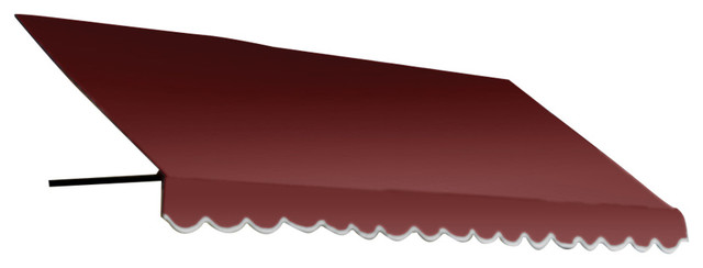 "3&x27; Dallas Retro Window Awning, 16"" Hx30"" D, , Burgundy."