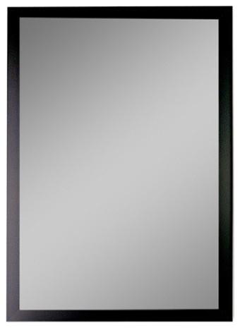 "Monaco Black Wall Mirror 39.75""w X 51.75""h."