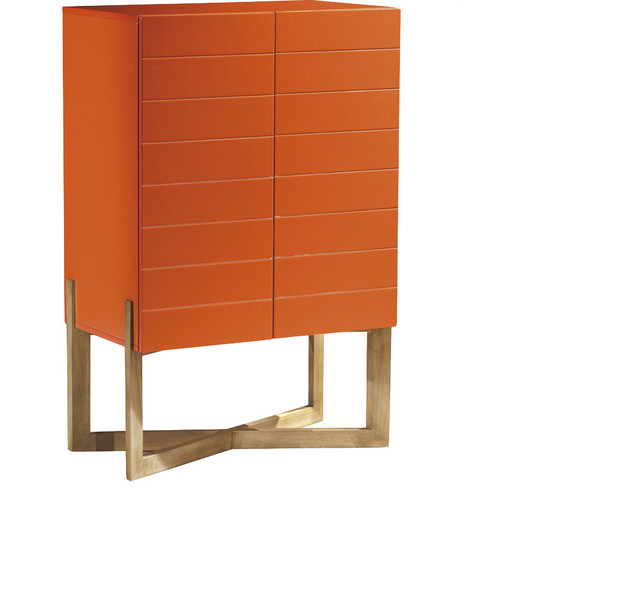 ... COLLECTION Liz Bar Cabinet, Orange - Wine And Bar Cabinets | Houzz