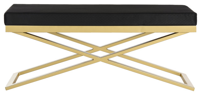 Acra Bench, Black And Gold.