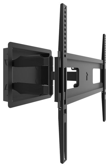 """Kanto R500 Recessed Articulating In-Wall Full Motion TV Mount for 46 to 80/"""" TVs"""