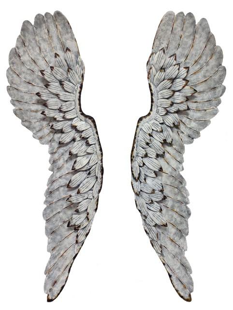 Metal Angel Wings Wall Decor set of 2 metal angel wings - rustic - wall decor -wilco home