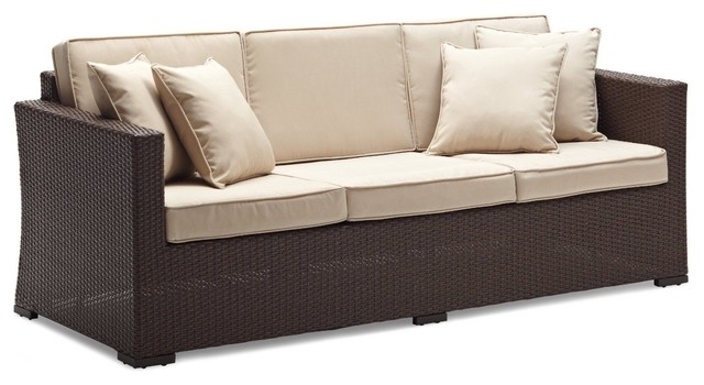 Strathwood Griffen All Weather Wicker 3 Seater Sofa
