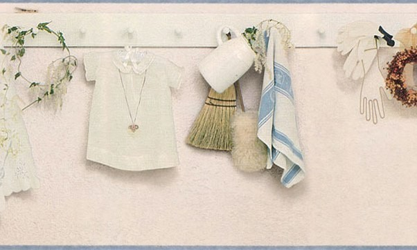 Cream Kitchen Laundry Pegboard Wallpaper Border Roll Farmhouse