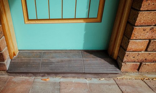 & Front door colour for brown brick house