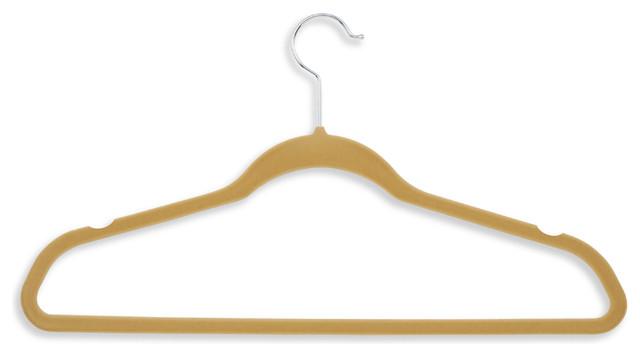 Velvet Touch Suit Hanger, Camel, 50 Pack.
