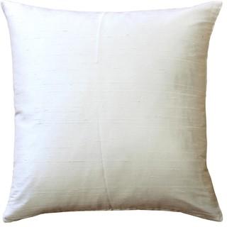 "Pillow Decor Sankara Silk Throw Pillows 20""x20"", Ivory"