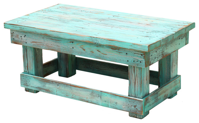 Distressed Coffee Table Aqua Farmhouse Coffee Tables By Doug And Cristy Designs